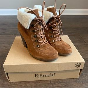 Bjorndal FARRAH Leather Fleece Lined Ankle Boots
